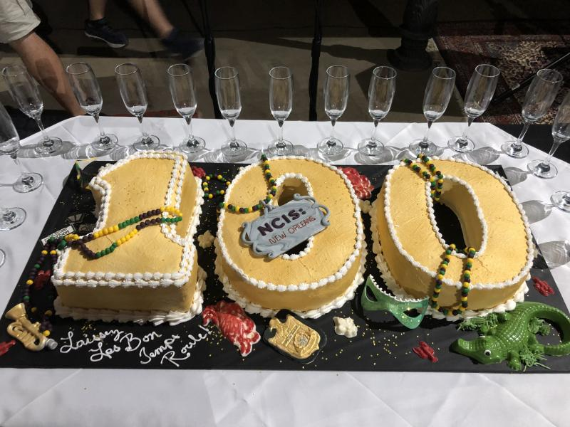 NCIS NEW ORLEANS 100TH EPISODE CAKE