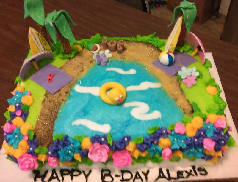 Day at the Beach Cake